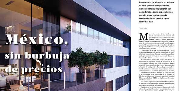 México, sin burbuja de precios