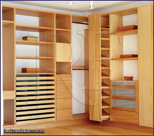 Muebles de madera for Interiores de closet de madera